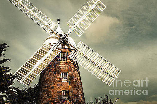 Georgian stone windmill  by Jorgo Photography - Wall Art Gallery