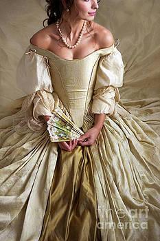 Georgian Woman Wearing A Beautiful Ball Gown by Lee Avison