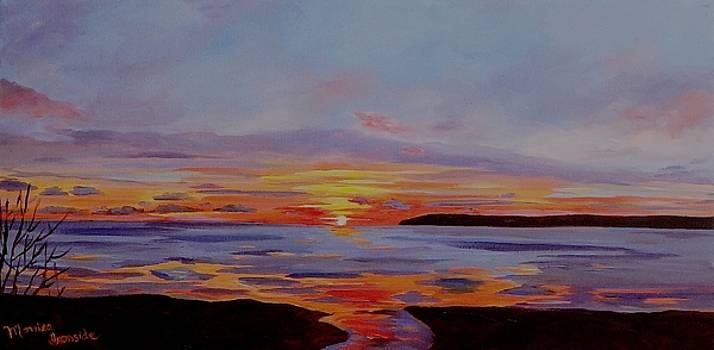 Georgian Bay Winter Sunset by Monica Ironside