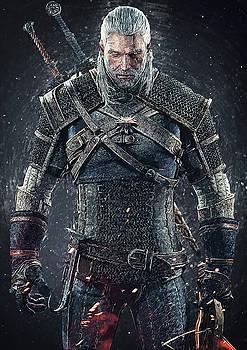 Geralt of Rivia - Witcher  by Taylan Apukovska