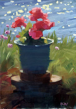 Geranium by the water by Kathleen Weber