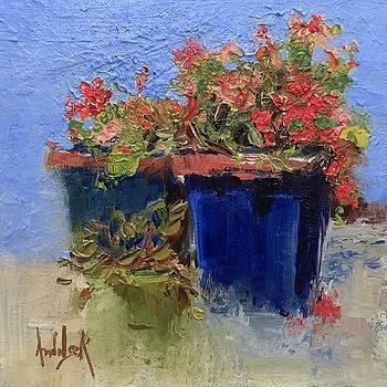 Geraniums by Barbara Andolsek
