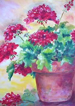 Geraniums by Carolyn Bell