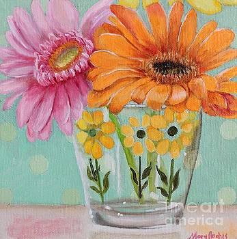 Gerber Daisy Retro Glass   by Mary Hughes