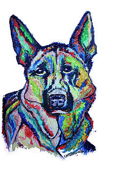German Shepherd by Carol Tsiatsios