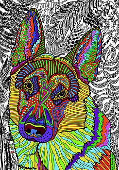 German Shepherd Dog by ZileArt