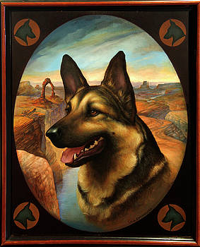 German Shepherd by Jane Whiting Chrzanoska