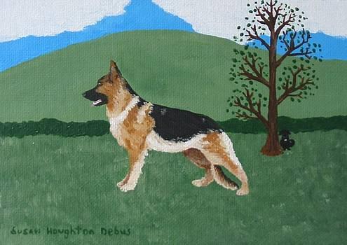 German Shepherd by Susan Houghton Debus