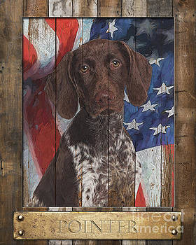German Shorthaired Pointer Flag Poster by Tim Wemple