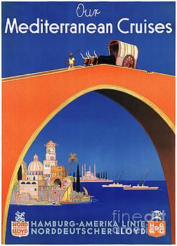 Germany Hamburg Vintage Travel Poster Restored by Carsten Reisinger