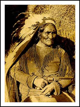 Peter Gumaer Ogden - Geronimo Apache Warrior With a Texas Dance Revolver circa 1900