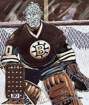 Gerry Cheevers by Dave Olsen