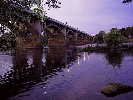 Gervais Street Bridge at Dusk by Jean Ehler