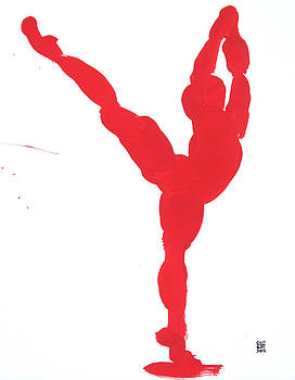 Gesture Brush Red 1 by Shungaboy X