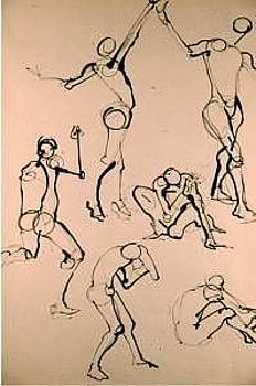 Gesture Drawing Number 02A by Denise Urban