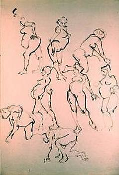 Gesture Drawing Number 03A by Denise Urban