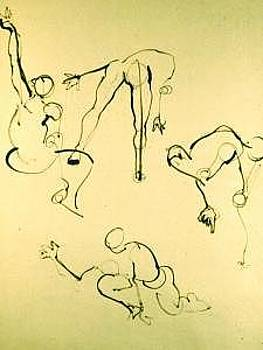 Gesture Drawing Number 04A by Denise Urban