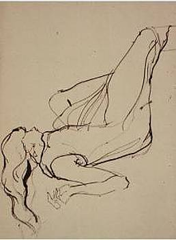 Gesture Drawing Number 07A by Denise Urban