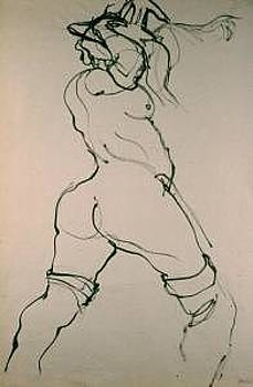 Gesture Drawing Number 08A by Denise Urban