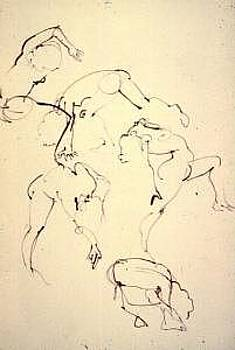 Gesture Drawing Number 09A by Denise Urban