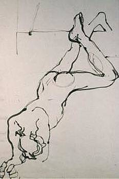 Gesture Drawings Number 01A by Denise Urban
