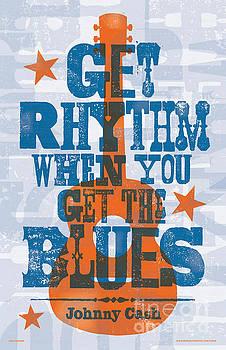 Get Rhythm - Johnny Cash Lyric Poster by Jim Zahniser