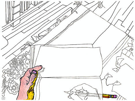 Stan  Magnan - Getting Ready to Sketch Sketch