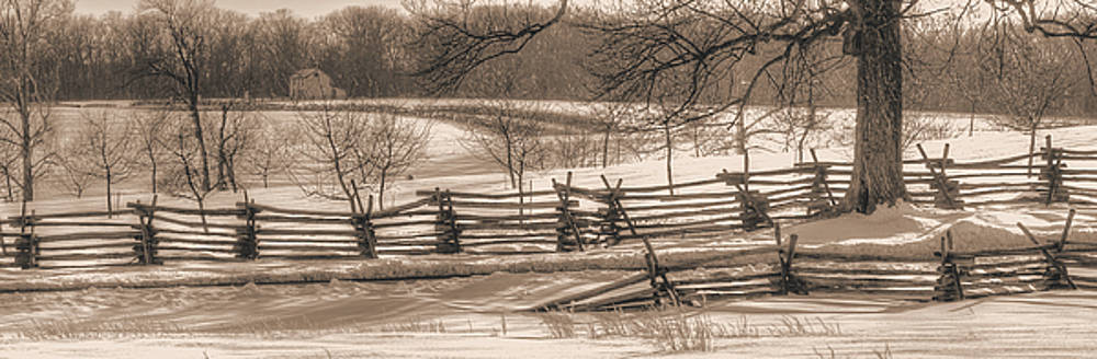 Gettysburg at Rest - We'll Be Home Before Dark - Phillip Synder Farm, Winter by Michael Mazaika