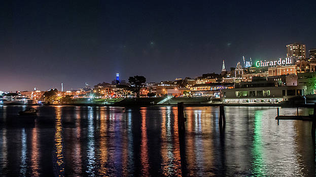 Ghirardelli Square at Night by Andrew Hollen
