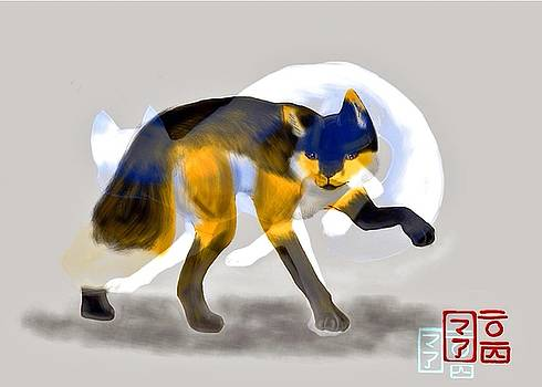 Ghost Fox  by  AmaSepia Gittens-Jones' Fox And Fantasy Designs