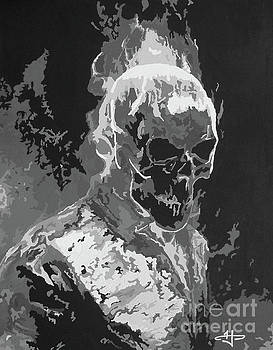 Ghost Rider - Gilded Cage BW by Kelly Hartman
