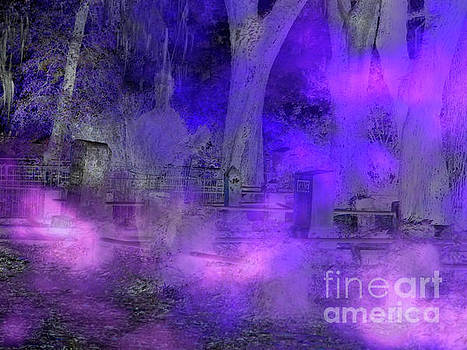 Ghostly Image In The Cemetery by D Hackett