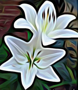 Ghostly Petals by Sheila Renee Parker