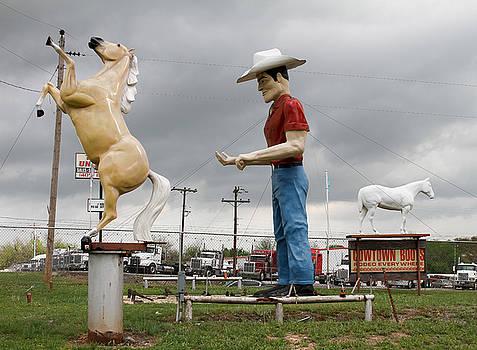 TONY GRIDER - Giant Cowboy and Horses