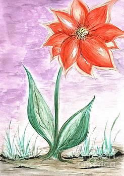 Giant Flower  by Teresa White
