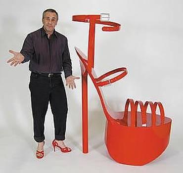 Giant High Heel Shoe Sculpture by Bruce Gray