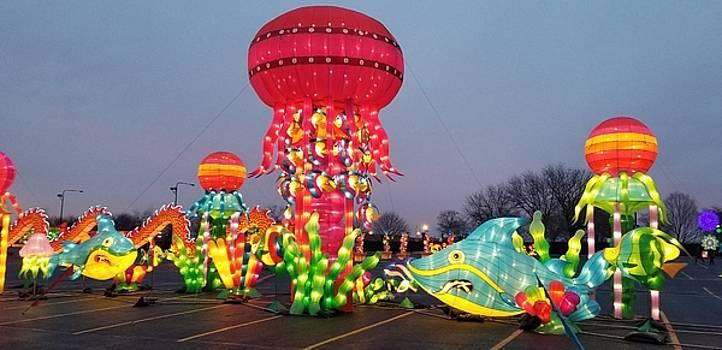 Giant Illuminate Jelly Fish by Britten Adams