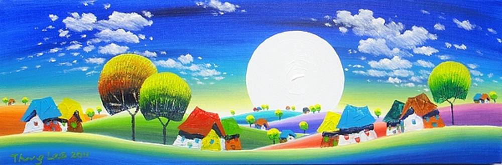 Giant moon by Tang Hong Lee
