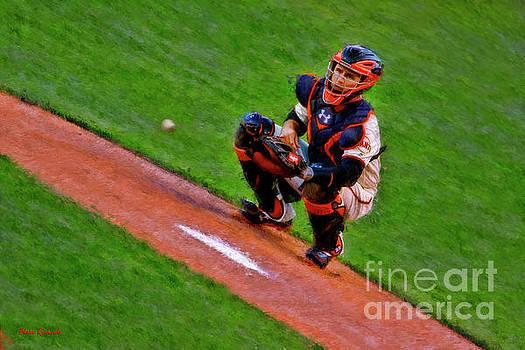 Blake Richards - Giants Buster Posey Gets Fast Ball