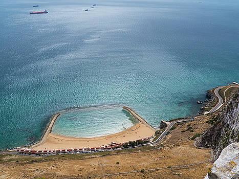 Gibraltar rock view to the beach by Tamara Sushko