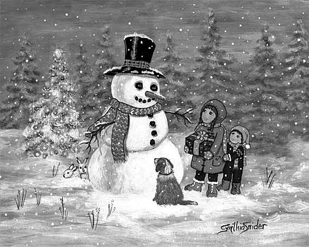 Gift For Snowman II by Cynthia Snider