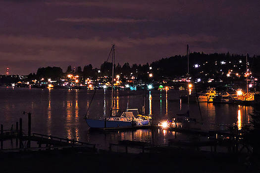 Gig Harbor at night by Jack Moskovita
