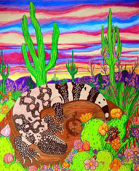 Nick Gustafson - Gila monster in desert
