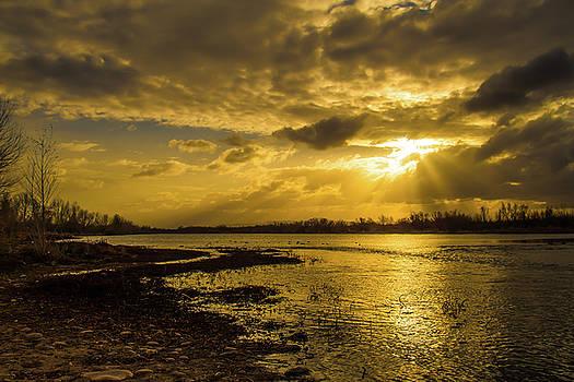 Gila River Sunrise by Ken Mickel