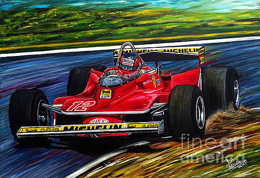 Gilles Villeneuve Legend by Jose Mendez