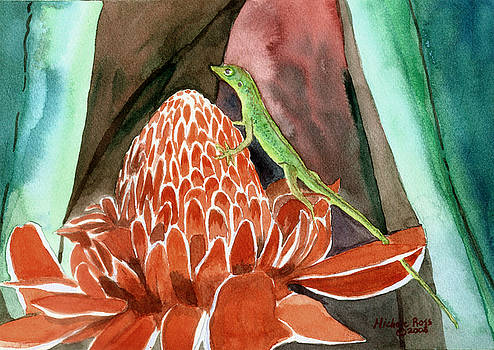 Ginger Gecko by Michele Ross