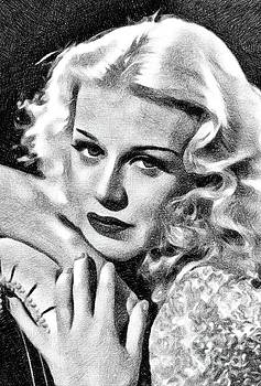 John Springfield - Ginger Rogers, Vintage Actress and Dancer by JS
