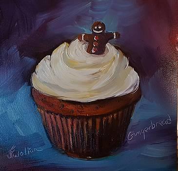 Gingerbread cupcake by Judy Fischer Walton