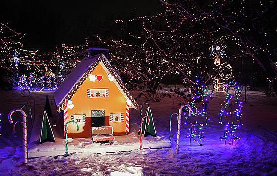 Gingerbread House at Lilacia Park by Joni Eskridge