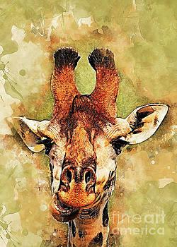 Giraffe art by Justyna JBJart